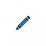 Icon depicting a pencil