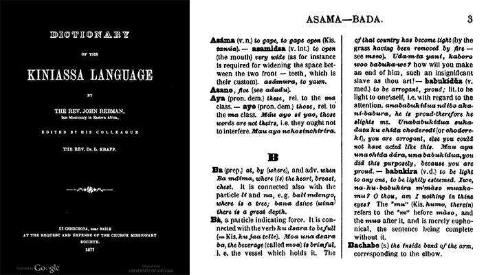Title page and one other page from book