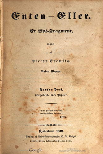 title page for book