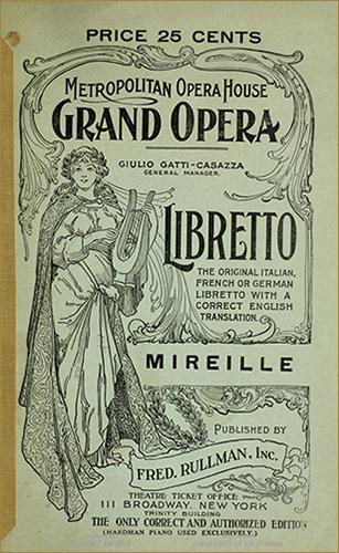 Cover for libretto