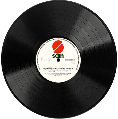 photograph of LP record